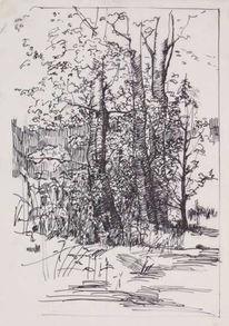 Skizze, Zeichnung, Zeichnungen, Landschaft