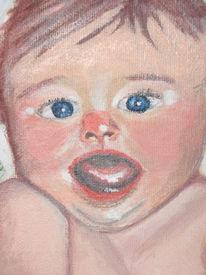 Portrait, Baby, Acrylmalerei, Malerei