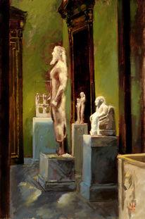 Museum, Malerei, Ölmalerei, Interieur