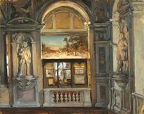 Museum, Figural, Malerei, Ölmalerei