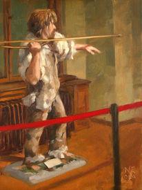 Figural, Museum, Ölmalerei, Interieur