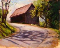 Ölmalerei, Luft, Stadtlandschaft, Freiluftmalerei