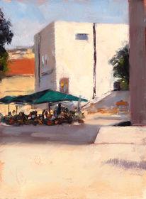 Luft, Ölmalerei, Stadtlandschaft, Studie