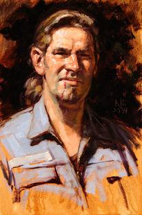 Malerei, Portrait, Ölmalerei