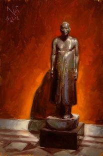 Malerei, Interieur, Ölmalerei, Museum
