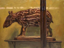 Ölmalerei, Interieur, Tiermalerei, Figural