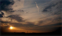 Sonnenuntergang, Himmel, München, Wolken
