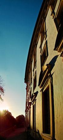 Schlosschleißheim, Vertikalpanorama, Architektur, Sonne