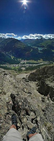 Graubünden, Schweiz, Felsen, Vertikalpanorama