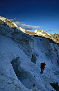 Spalt, Vertikalpanorama, Gletscher, Schweiz