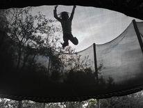 Trampolin, Perspektive, Sprung, Abstrakt