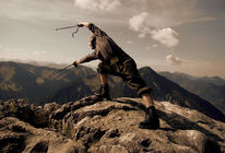 Vertreiben, Berge, Bodenschneid, Fotografie