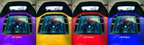 Gelb, Rot, Konzept, Cabrio