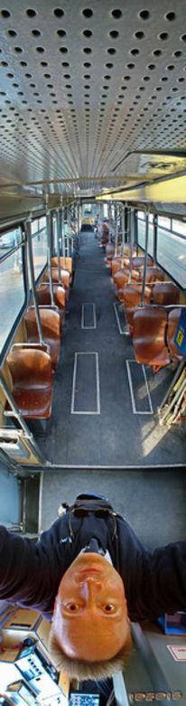 Tonne, Straßenbahn, Wagen, Vertikalpanorama