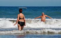 Welle, Mann, Playa, Baden