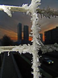 Dämmerung, Highlighttowers, München, Winter