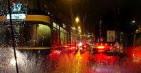 Lingstr, Straßenbahn, Linie, Nacht