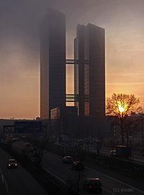 Highlighttowers, München, Winter, Dämmerung