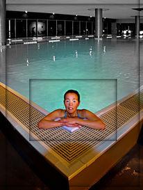 Schwimmbad, Glücklich, Fotografie, Kolorierung