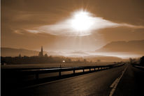 Sonne, Tegernseeerberge, Sepia, Fotografie