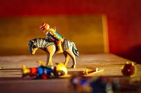 Playmobil, Ritter, Holztisch, Sonnenlicht