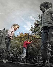 Trampolin, Springen, Kinder, Fotografie