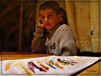 Versteckteschwester, Wasserfarben, Malerei, Meinung
