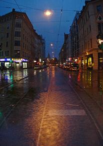 Vertikalpanorama, Dämmernung, Regenlicht, Fotografie