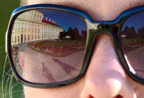Fotografie, Weide, Brille, Schloss