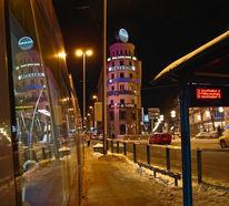 München, Spiegelung, Stachus, Architektur