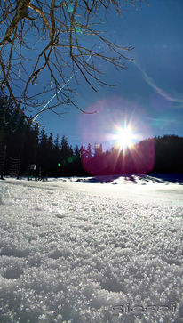 Vertikalpanorama, Schnee, Berchtesgaden, Fotografie