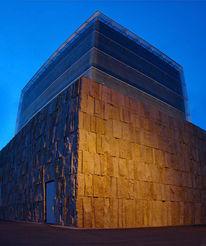 München, Synagoge, Vertikalpanorama, Architektur