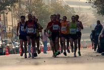Läufer, Marathon, Kampf, Fotografie