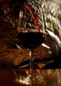 Rotwein, Fließen, Weinglas, Wahrnehmung