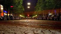 München, Nacht, Orleansstraße, Straßenbahn