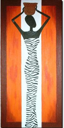 Afrika, Malerei, Massai, Zebra