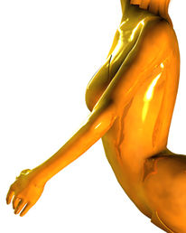 Skulptur, Figur, Badeanzug, Ballett