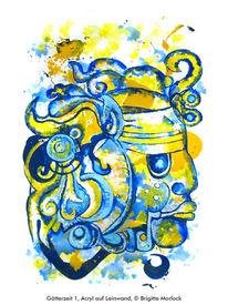 Surreal, Azteke, Götter, Malerei