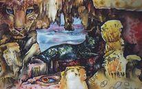 Grafik, Abstrakt, Höhle, Natur