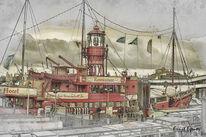 Gaststätte, Feuerschiff, Schiff, Hamburg