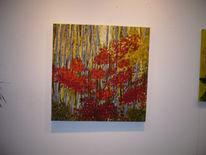 Herbst, Baum, Sonne, Ölmalerei