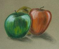 Rot, Gelb, Grün, Apfel