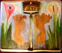 Waage, Fuß, Blumen, Kunsthandwerk