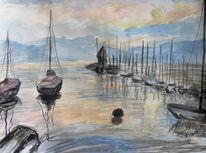 Boot, See, Wasser, Stimmung