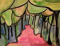Wald, Farben, Tusche, Malerei