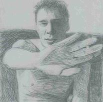 Kugelschreiber, Zeichnung, Akt, Portrait