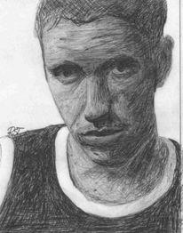 Zeichnung, Portrait, Kugelschreiber, Zeichnungen