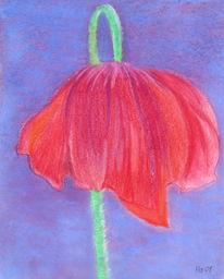 Blumen, Floreal, Malerei, Pastellmalerei