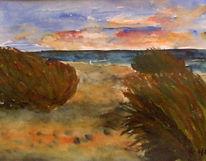 Aquarellmalerei, Landschaft, Malerei, Sylt