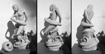 Neptun, Figural, Ton, Figur